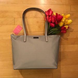 Kate Spade Hayden Zipper Tote Bag Purse Neutral